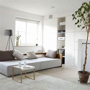 Wohnideen wohnzimmer wei schlicht modern minimalistisch for Wohnideen wohnzimmer modern