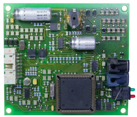 The Printed Circuit Board With Radio Components Stock