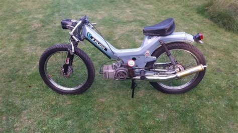 puch maxi cafe racer moped modified custom retro puch maxi