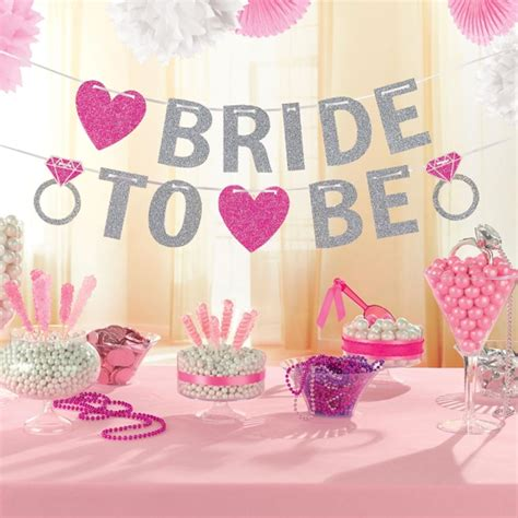 Decorating Ideas For Kitchen Bridal Shower by Hen To Be Glitter Banner