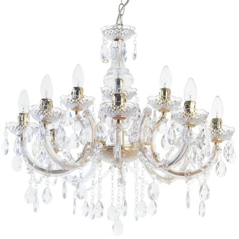 Chandelier Lights by Therese 12 Light Dual Mount Chandelier Gold From