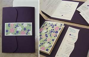 custom wedding invitation bilingual booklet pocket With booklet pocketfold wedding invitations