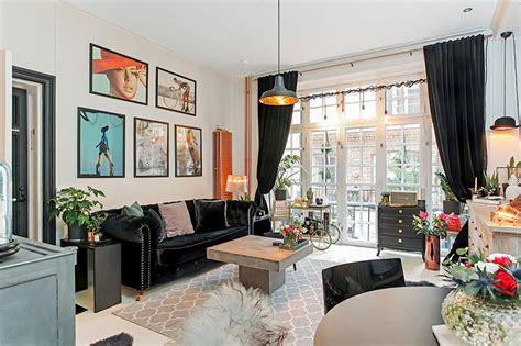 sala de tv sofá preto 5 dicas para decorar a sala de uma casa alugada limaonagua