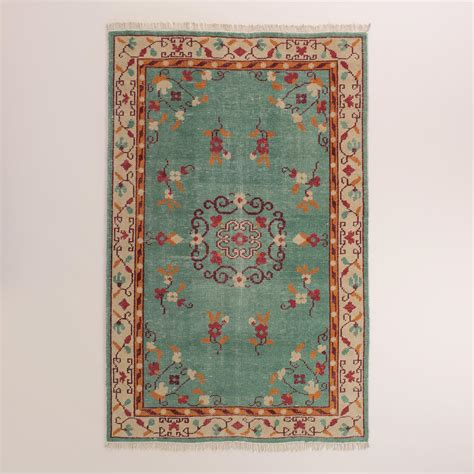 rugs world market boho knotted wool lille area rug world market