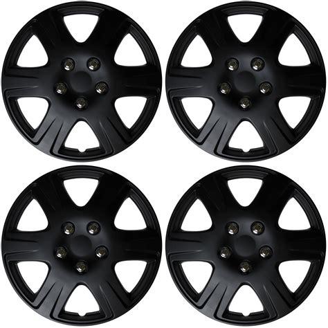 black silver wheel cover kt104mbks 4 pc set of 15 quot black matte hub caps rim cover for oem