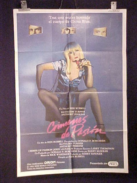 Featured items newest items bestselling alphabetical: CRIMES OF PASSION (1984) * ANTHONY PERKINS * TURNER * ARGENTINE 1sh MOVIE POSTER | eBay