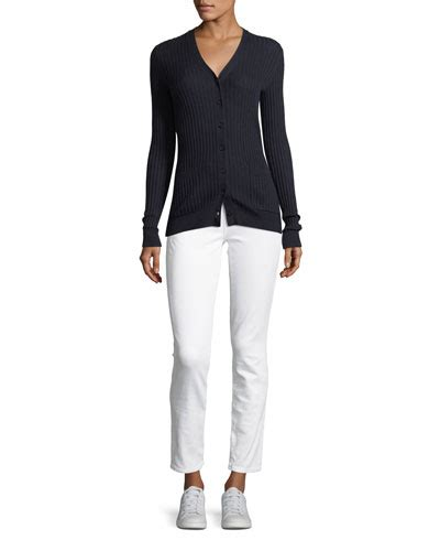 rib blouse w slit vince clothing for at neiman