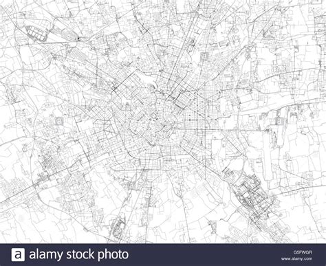 map  milan satellite view streets  highways italy