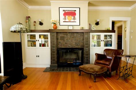 cabinets next to fireplace fireplace cap and cabinets traditional living room