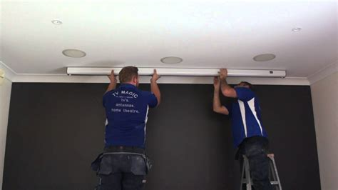Ceiling Recessed Projection Screen Installation