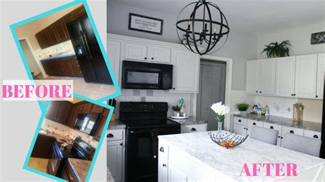 pictures of small kitchen makeovers diy modern farmhouse kitchen makeover before after 7488