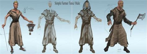 Farmer Clothes Concept Art From The Elder Scrolls V