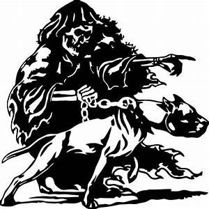 Grim Reaper Pitbull Dog Chain Skull Car Truck Window Vinyl ...