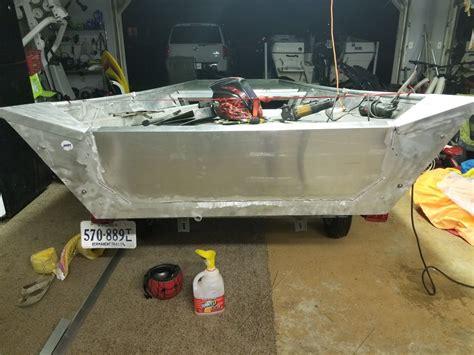 Jon Boat Transom Reinforcement transom reinforcement my jon boat modifications