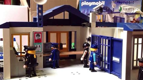 bureau playmobil playmobil stop motion het politiebureau snelle versie