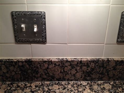 installing new backsplash existing where granite