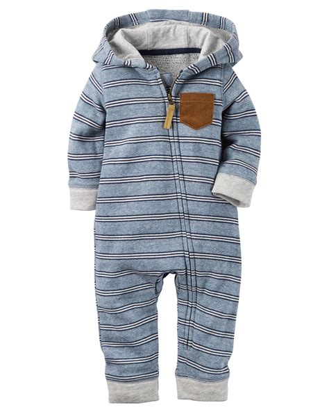 baby boy jumpsuit hooded terry jumpsuit carters com