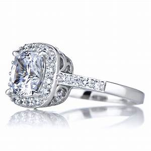 halo ring cushion cut cz halo rings With cushion cut halo engagement ring with wedding band