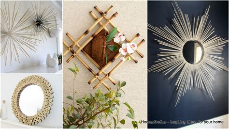 mirror wall decor infuse an vibe with diy bamboo wall decor