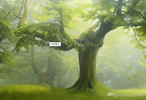 beautiful big tree forest landscape large mural wallpaper