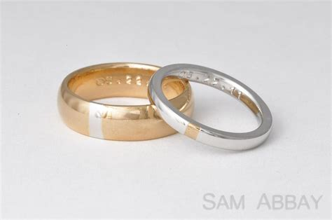 Golden Platinum by Rings With Inlay New York Wedding Ring