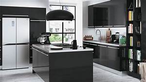 Quelle couleur accorder avec une cuisine noire for Idee deco cuisine avec cuisine bois et noir