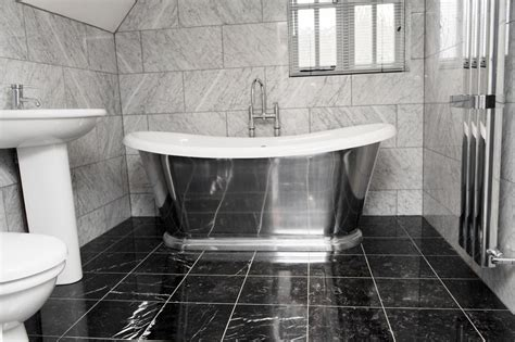 Black And White Marble Bathroom Floor Tiles