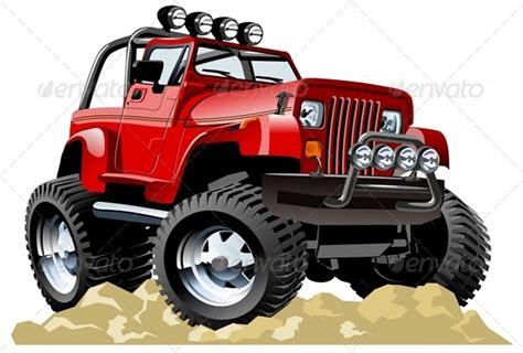 Vector Cartoon Jeep By Mechanik
