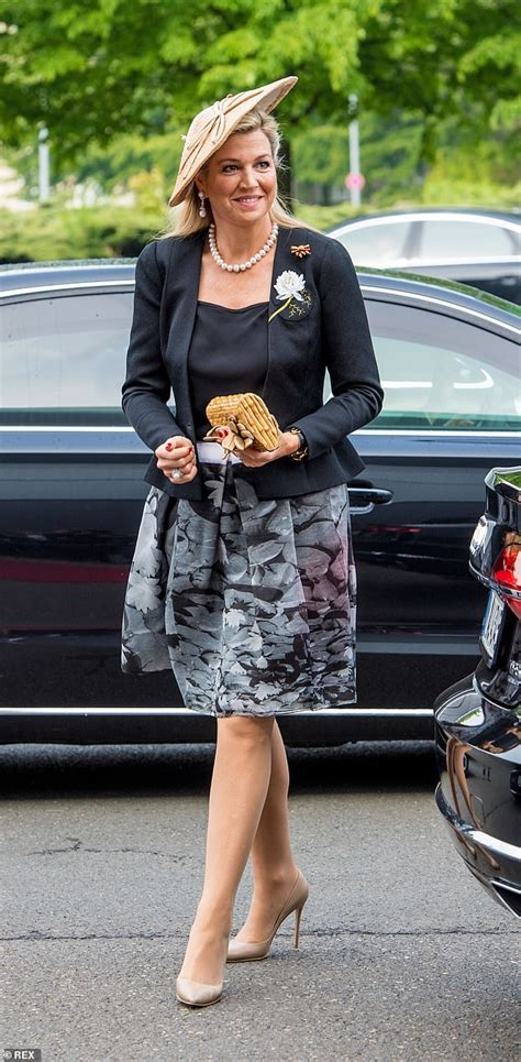 Queen Maxima The Netherlands Dons Monochrome