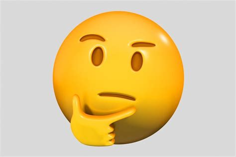 Emoji Thinking Face 3D model | CGTrader