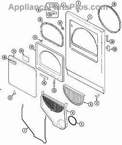 Parts For Crosley Cde6500w  Door Parts