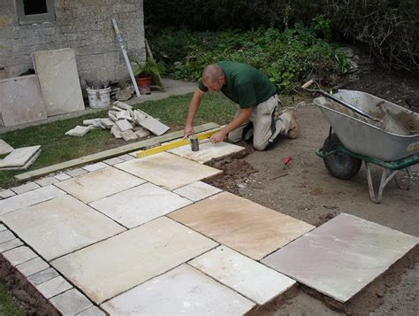 laying patio stones on gravel home design ideas