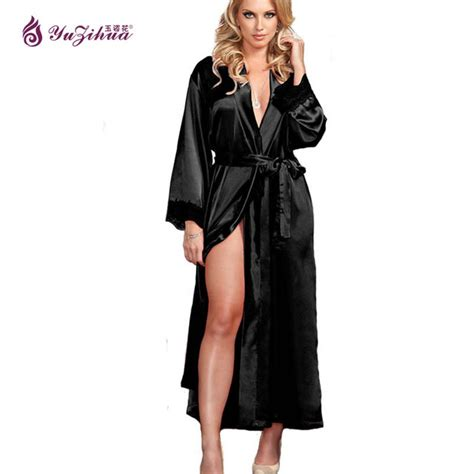 robe de chambre en soie pour femme big robes de soie pour les femmes peignoir satin robe