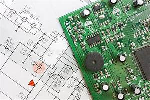 Schematic Diagram And Electronic Board Stock Photography