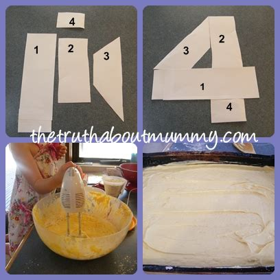 Number 4 Cake Template four cake one