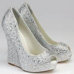 bridesmaids shoes silver wedge bridesmaid shoes with open toe ipunya