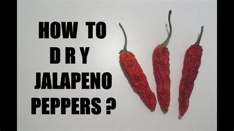 how to dry jalapeno peppers youtube