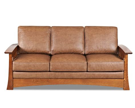 american leather company sofa mission style leather sleeper sofa american made cl7016dqsl