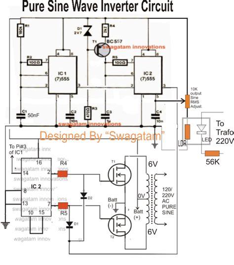 500va pure sine wave inverter circuit