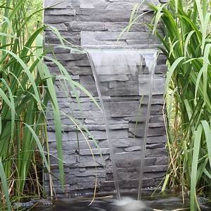 Steinmauer Mit Wasserfall : wasserfall f r den garten teich gartenteich zum selber bauen wasserspiel led in garten ~ Markanthonyermac.com Haus und Dekorationen