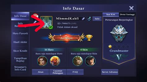 profil mobile legend cara merubah foto profile mobile legends jagoan kode