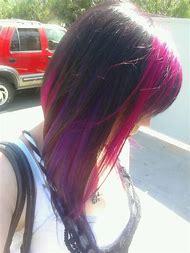 Black Hair with Purple Peekaboos