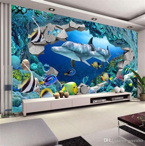 wall mural underwater world photo wallpaper interior