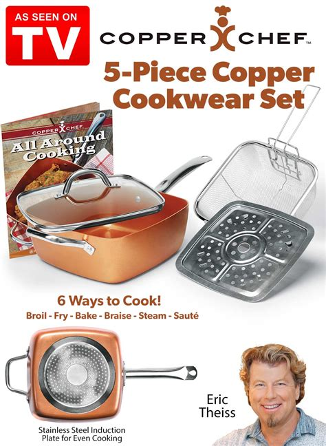copper chef  piece copper cookware set carolwrightgiftscom