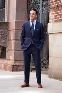 Light Blue Cotton T Shirt Royal Blue Suit Trend Spring Fashion He Spoke Style