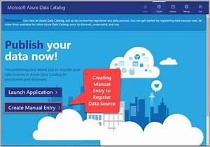 Azure Data Catalog Register Data Source