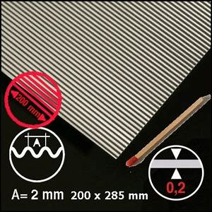 Tole Aluminium 2mm : t le ondul e aluminium 2mm pour maquettes d 39 architecture ~ Nature-et-papiers.com Idées de Décoration