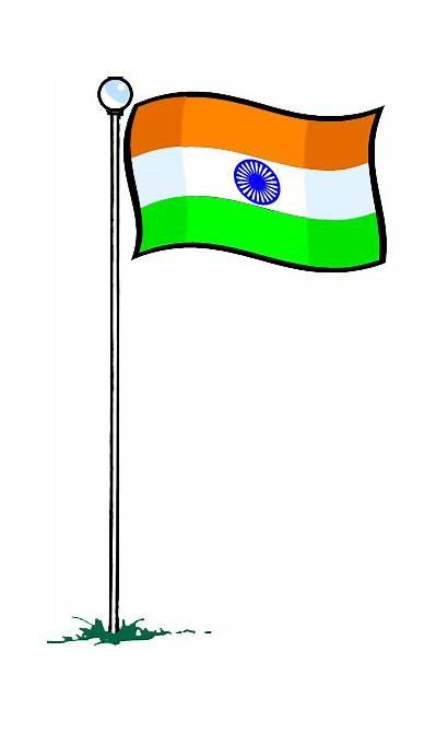 Flag Indian Clipart Jhanda Hindu Transparent Koryo