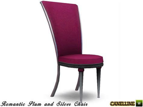 plum and silver dining room dining chair by