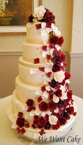334 Best Images About Wedding Cakes Red And White On